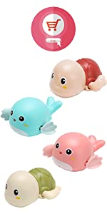 Turtle Bath Toys for Kids Wind up Baby Toys
