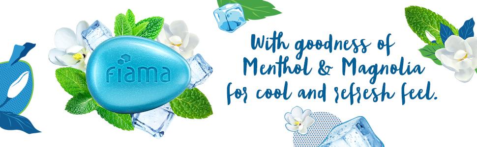 Fiama, cooling, gel bar, menthol,  body wash, freshness, fragrance, refreshing moisturisation