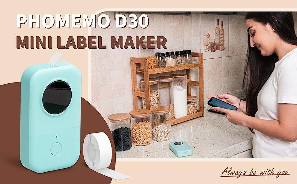 christmas d30 label maker green1