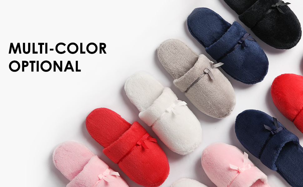 DREAM PAIRS Womenamp;#39;s House Memory Foam Fuzzy Fluffy Faux Fur Soft Slip On Indoor Slippers