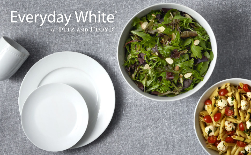 everyday white by fitz and floyd classic rim collection