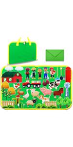 Farm Animals felt board toddlers foldable travel friendly