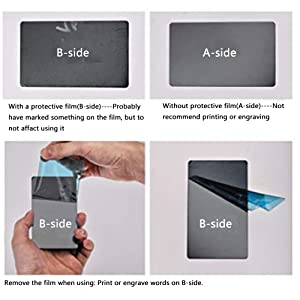 RESALET Blank Metal Business Card