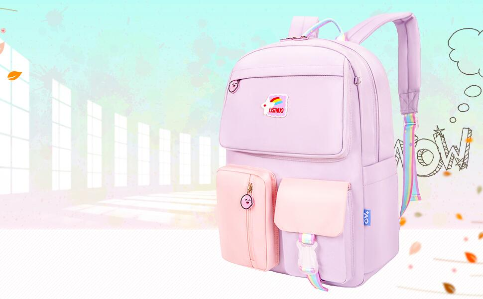 LISINUO Childrenamp;#39;s schoolbag details page display