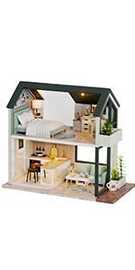 Fsolis diy dollhouse kit ql01