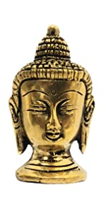 brass buddha statue table decor paper weight