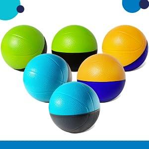 """multi-colored 4"""" foam basketballs"""
