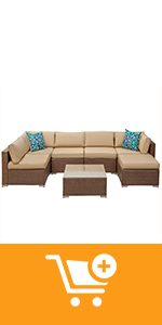 7 piece furniture set with ottoman