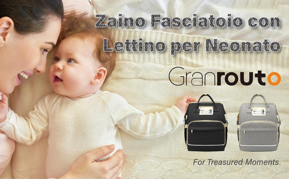 zaino fasciatoio con lettino per neonato