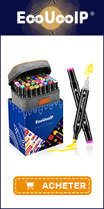EooUooIP 60 Colours Dual Tips Alcohol Art Markers