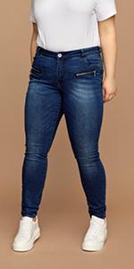 SANNA high waist jeans damen zizzi curve hoch taillerte jeans