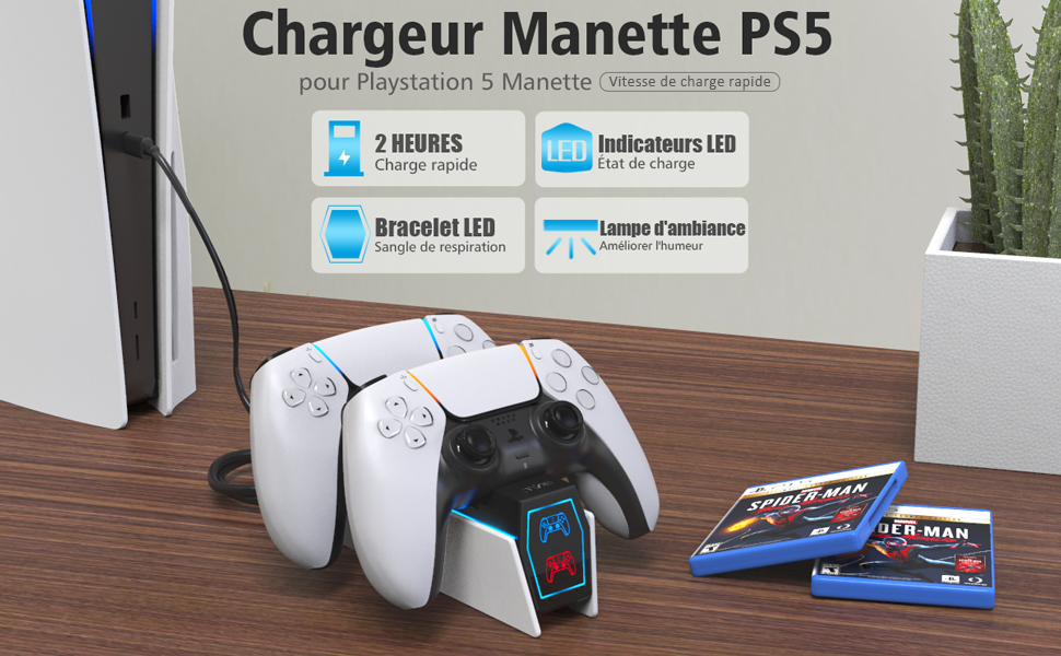 Chargeur Manette PS5