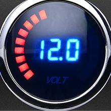 12V switch panel with LED voltmeter