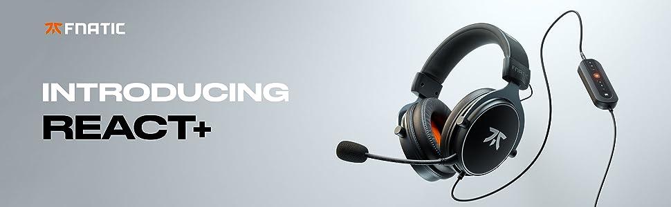 react plus react+ fnatic gear gaming headset headphones auriculares cascos gamer 7.1 surround sound