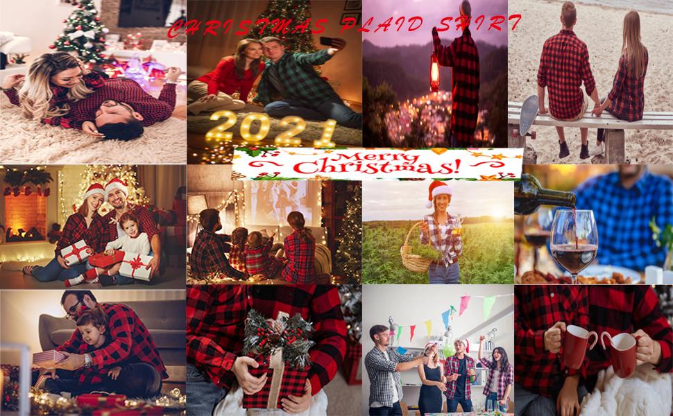 christmas red plaid shirt
