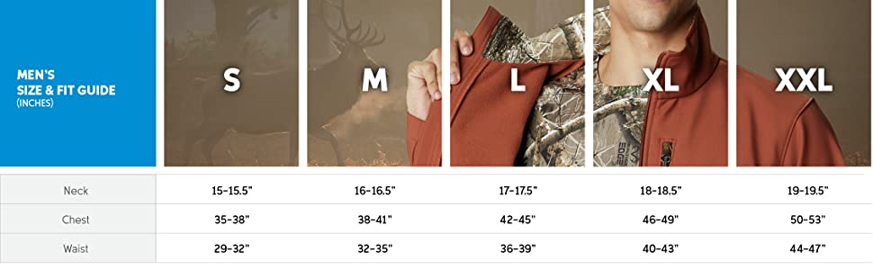 Mens jacket size and fit guide