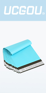 Teal poly mailers