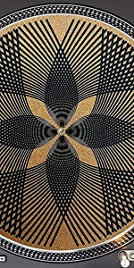Designed Cork Geometric Grid Art