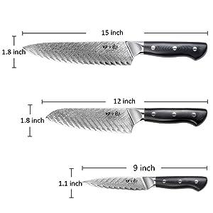 Kitchen Set Knife 3 Pieces