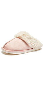 Slip on Fuzzy House Slippers for Women Men with Memory Foam Warm Cozy Faux Fur Bedroom Home Shoes