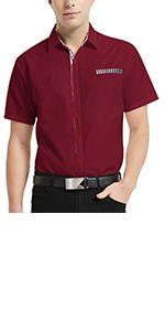 men casual plaid contrast dress shirt