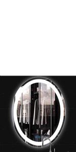 Oval LED Bathroom Mirror