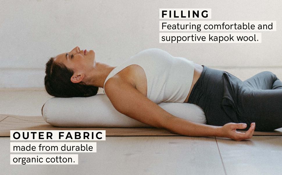 Amazon Com Lotuscrafts Yoga Bolster For Yin Yoga Rectangular Kapok Filling Washable Cover Organic Cotton Yoga Bolster Cushion For Restorative Yoga Pilates Cushion Small 28 X 8