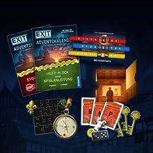 KOSMOS, EXIT, Das Spiel, Adventskalender, Die Jagd nach dem goldenen Buch, 24 spannende Rätsel