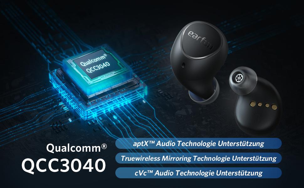 Bluetooth Kopfhörer In Ear Qualcomm QCC3040 chip