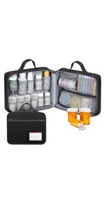 pill bottle organizer travel bag