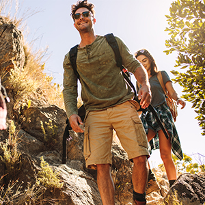 mens travel shorts for outdoor