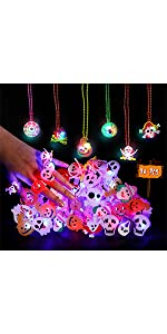 36 PCS Halloween Light Up Rings and Necklaces B091HXNPPJ