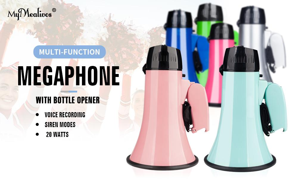 colorful megaphone