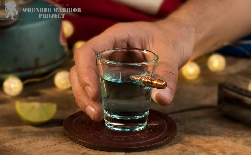 Banner image with whiskey shot glass.
