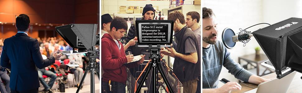 teleprompter ipad, teleprompter canon, teleprompter nikon, teleprompter sony