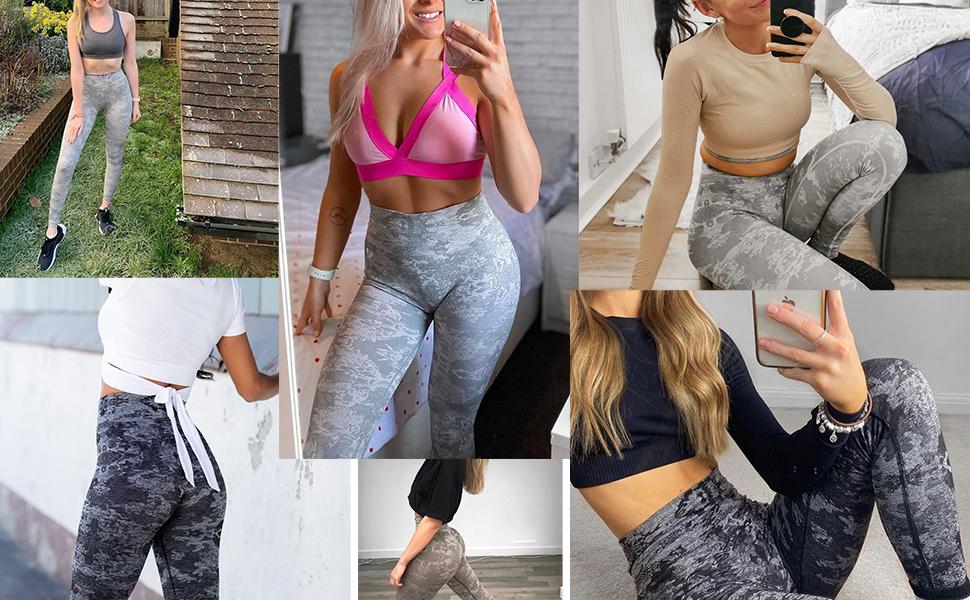 sports active fitness print leggings