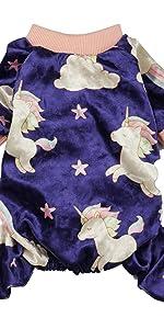 dog pajamas unicorn purple