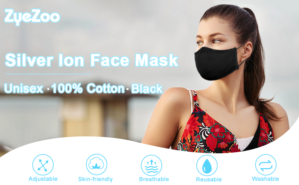Silver ion face mask