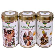Trio Pack Organic Ragi Flour, Multigrain Health Mix, Organic Chana Sattu