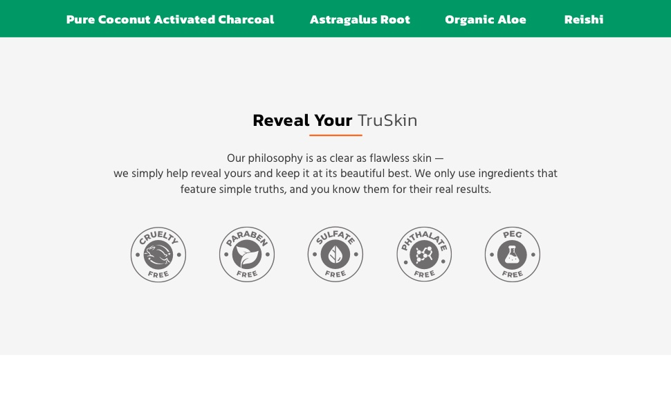 Reveal your TruSkin with Charcoal Face Wash