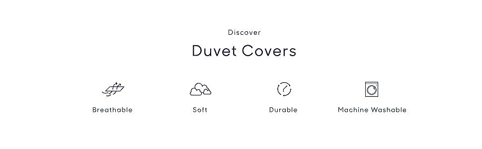 Duvet Covers.Breathable.Soft.Durable.Machine Washable
