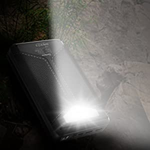 solar portable charger with flashlight