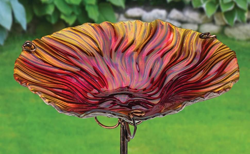 Sunflower Regal Art /& Gift Birdbath//Feeder