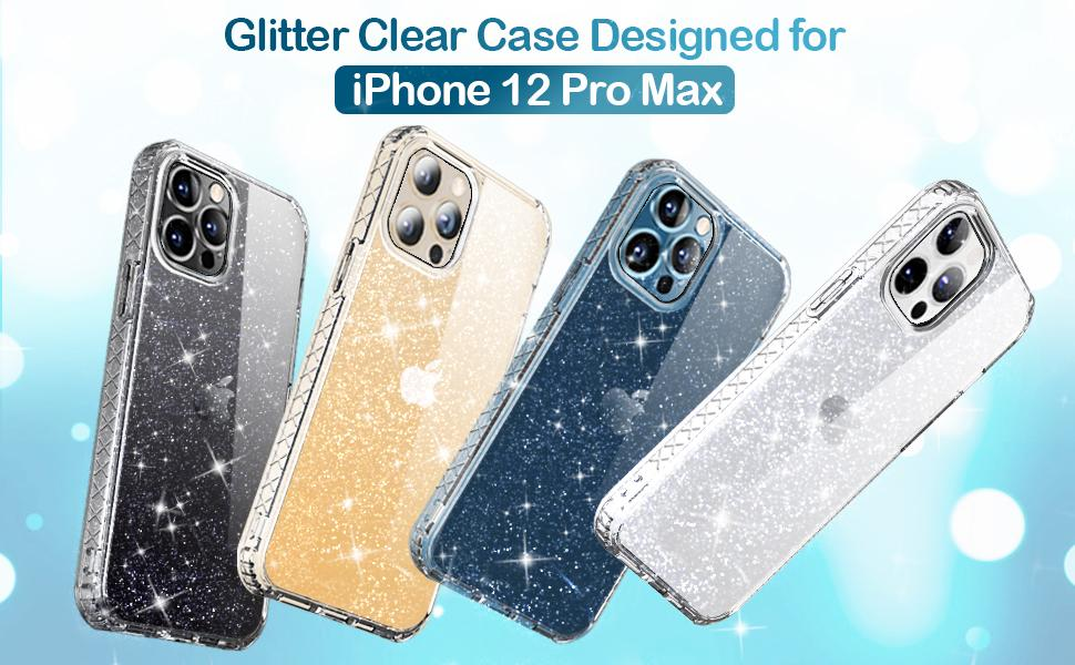 Glitter Clear Designed for iPhone 12 Pro Max Case