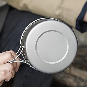Titanium Camping Foldable Bowl
