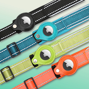 The apple air tag collar has multi-color options
