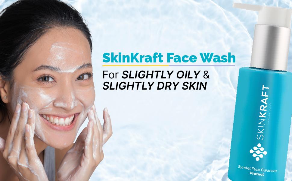 SkinKraft Face Wash For Slightly Oily/Slightly Dry Skin