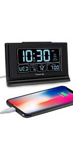 digital alarm clock auto set