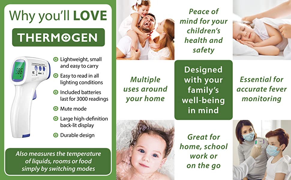 Thermogen thermometer for the whole family