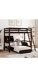 loft bed with futon